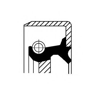 Прокладка маслонасоса Уплотнительное кольцо вала, приводной вал (масляный насос) CORTECO арт. 12016598B