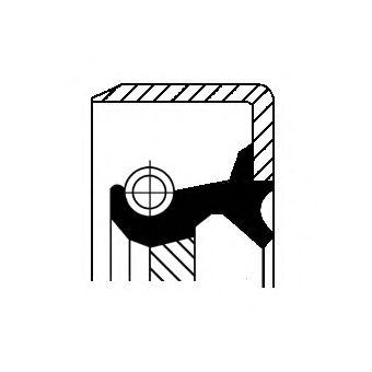Сальник кпп (60x74x10mm B1VISLRS) RVI CORTECO 12013365B