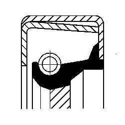 Сальник куліси КПП  арт. 12011394B