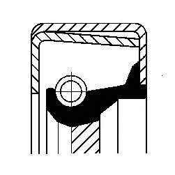 Сальник гумометалевий  арт. 12014345B