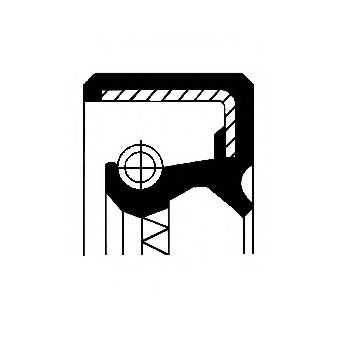 Сальник ступицы FORD 50X65X9.75/14 NBR BASLSFDRW (пр-во Corteco)                                      арт. 12011175B