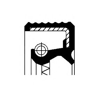 Уплотняющее кольцо, ступица колеса  арт. 12012571B