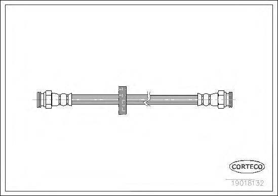 Тормозной шланг  арт. 19018132