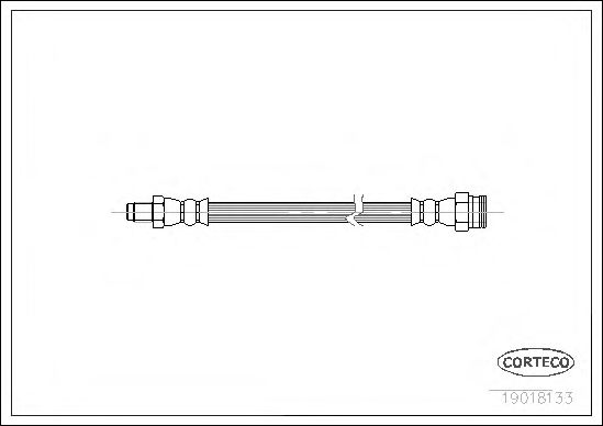 Тормозной шланг  арт. 19018133
