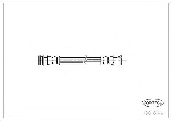 Тормозной шланг  арт. 19018149