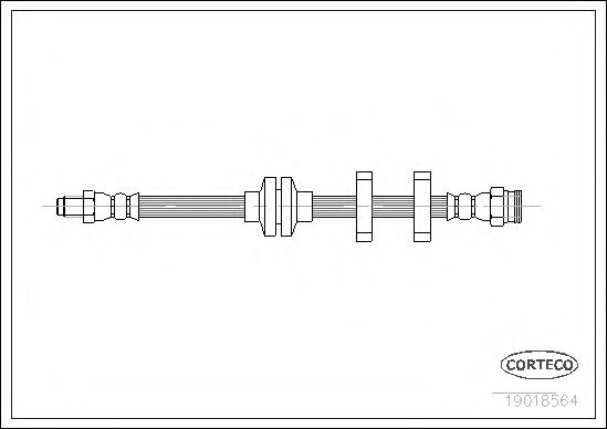 Тормозной шланг  арт. 19018564