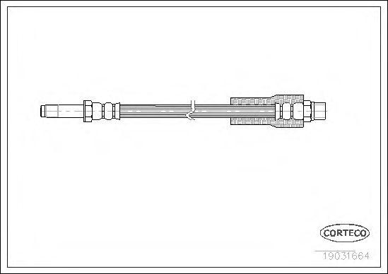 Тормозной шланг BRP арт. 19031664