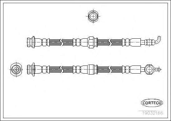 Тормозной шланг  арт. 19032166