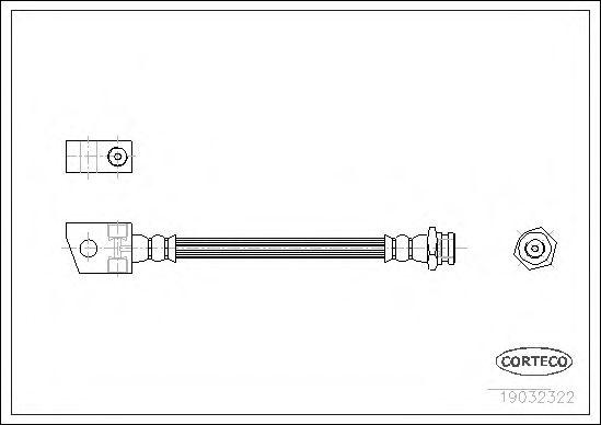 Тормозной шланг  арт. 19032322