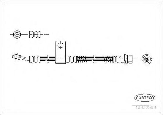 Тормозной шланг  арт. 19032599