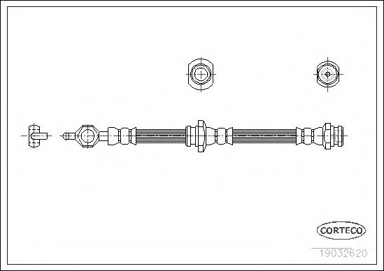 Тормозной шланг  арт. 19032620