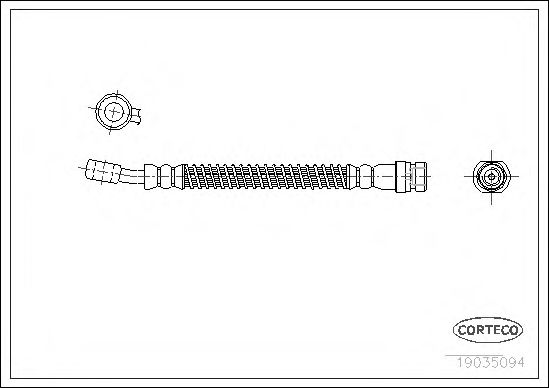 Тормозной шланг  арт. 19035094