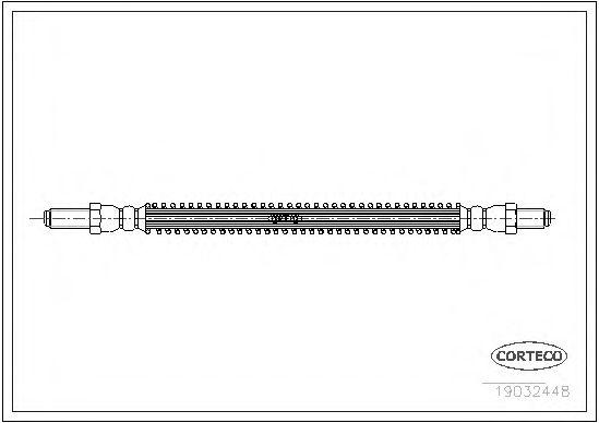 Тормозной шланг  арт. 19032448