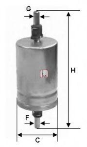 Топливный фильтр  арт. S1510B