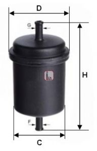 Топливный фильтр  арт. S3900B