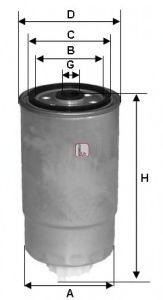 Фільтр палива  арт. S4H2ONR