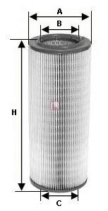 Воздушный фильтр  арт. S7265A