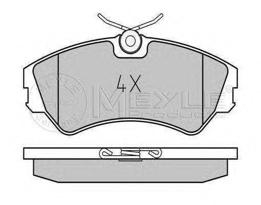 Колодки гальмівні дискові MEYLE 0252012419