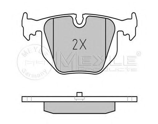 Колодки тормозные (задние) BMW 3 (E46)/5 (E39)/7 (E38)/X3 (E83)/X5 (E53) 94-  арт. 0252148717