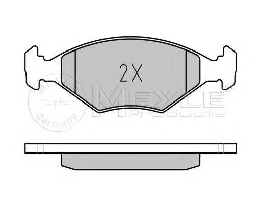 Комплект тормозных колодок, дисковый тормоз  арт. 0252322018W