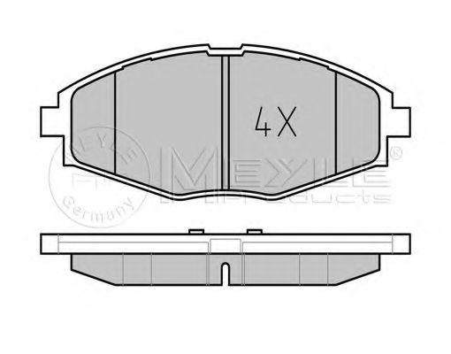 Колодки тормозные (передние) Daewoo Lanos 97-/Matiz 98-  арт. 0252324117