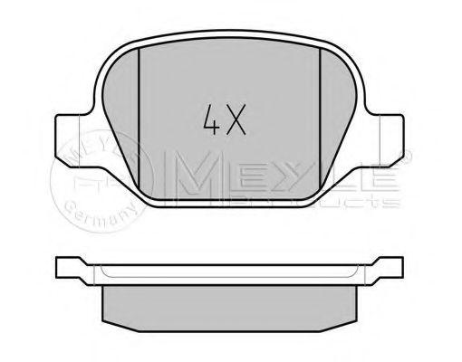 Комплект тормозных колодок, дисковый тормоз  арт. 0252351716