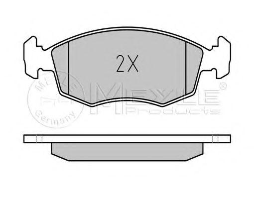 Колодки тормозные (передние) Fiat Doblo 01-05 (ATE)  арт. 0252355218