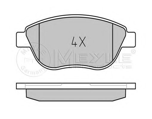 Колодки тормозные (передние) Citroen Berlingo/Fiat Doblo 01- (Bosch)  арт. 0252370819