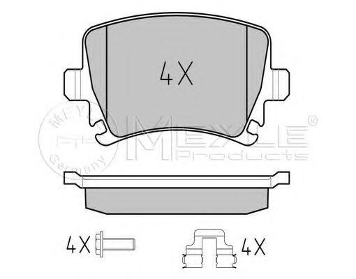 Колодки гальмівні дискові задн. VW Caddy 2003- MEYLE 0252391417