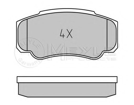 Комплект тормозных колодок, дисковый тормоз                                                           арт. 0252392120