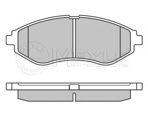 Колодки тормозные (передние) Daewoo Lanos (Akebono)  арт. 0252397417