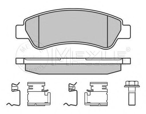 Колодки гальмівні задні Fiat Ducato 2006- MEYLE 0252446519