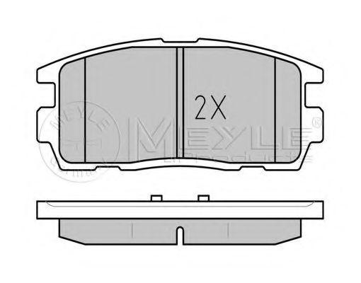 Комплект тормозных колодок, дисковый тормоз  арт. 0252449815W