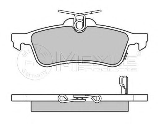 Гальмівні накладки задні  арт. 0252457415W