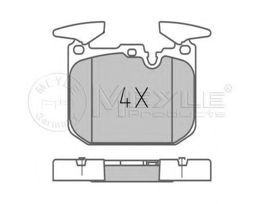 Brake pad set  арт. 0252502818PD