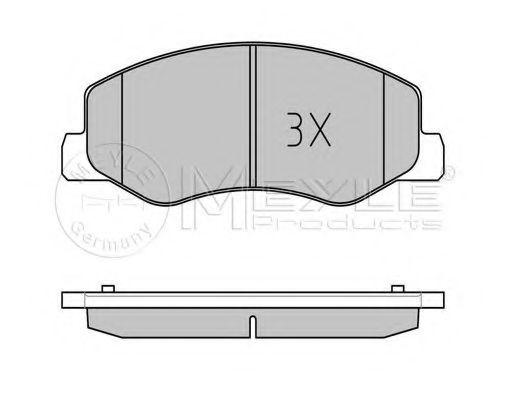 Колодки гальмівні задні Opel Movano/Renault Master 2010- /спарка/ MEYLE 0252517218W