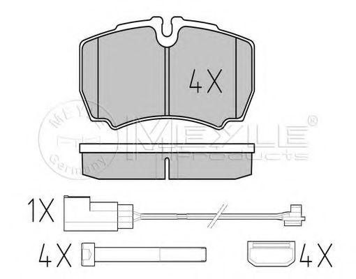Колодки гальмівні дискові задні, комплект MEYLE 0252912320W