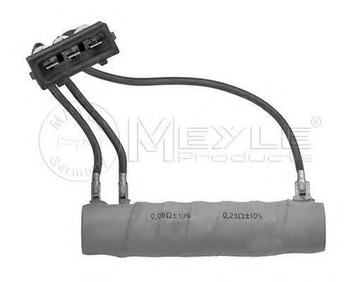 Резистор, вентилятор салона MEYLE 1008000036