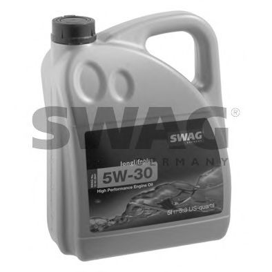 Моторное масло синтетическое д/авто SAE 5W30 Longlifeplus 5L SWAG 15932947