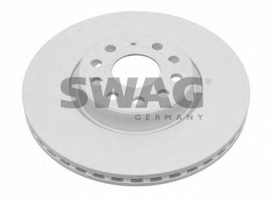 Тормозной диск вентилируемый передний SWAG 30924384