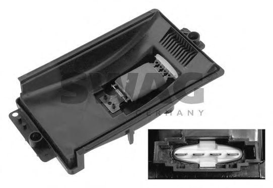 Блок управление отоплением Ряд сопротивления мотора вентилятора SWAG арт. 30933154