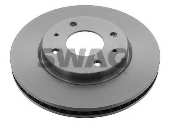 Тормозной диск вентилируемый передний SWAG 80928441