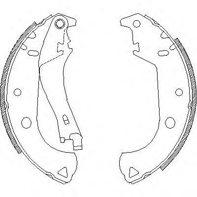 Колодки гальмівні задні / барабан / Fiat Doblo 01-2005 ROADHOUSE 412501