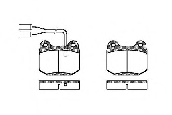 Колодки тормозные дисковые, к-кт.  арт. 201401