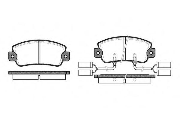 Колодки тормозные дисковые, к-кт.  арт. 202522