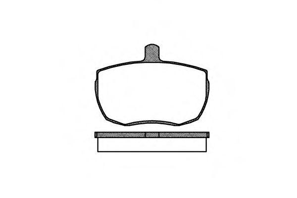 Колодки тормозные дисковые, к-кт.  арт. 205600