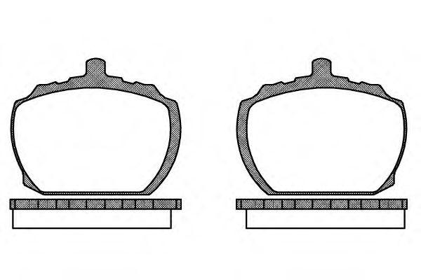 Колодки тормозные дисковые, к-кт.  арт. 205810