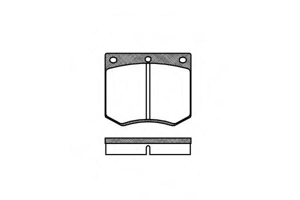 Колодки тормозные дисковые, к-кт.  арт. 206300