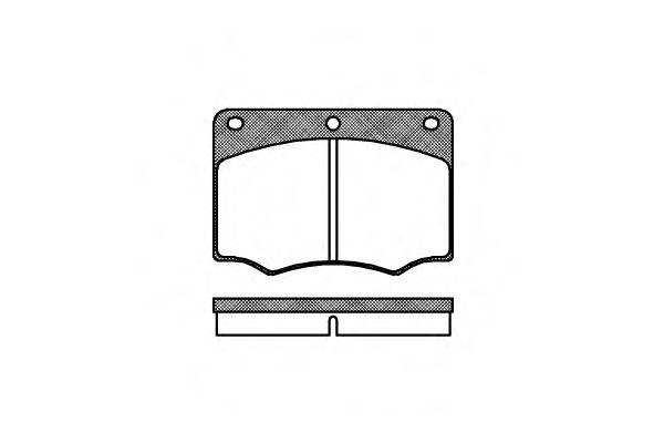 Колодки тормозные дисковые, к-кт.  арт. 206400