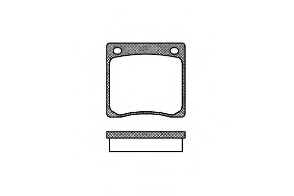Колодки тормозные дисковые, к-кт.  арт. 206700